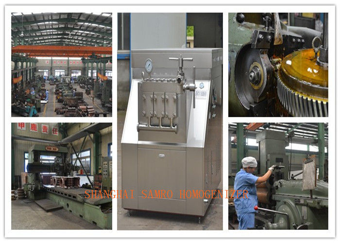 Two stage homogenizing system Milk Homogenizer Machine 3 plungers